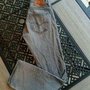 """LEVI  501 JEANS Men's Size 29"""" x 30"""" Gray"""